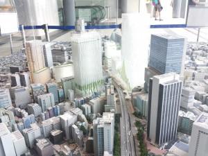 渋谷駅周辺開発完成予想模型