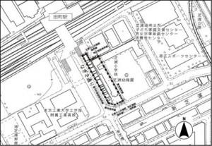 田町駅前商業地図