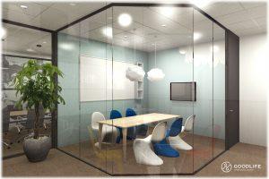 オフィス室内パース